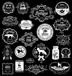 20 vintage hand drawn logos vector