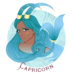Astrological sign of Capricorn as a african girl vector image vector image