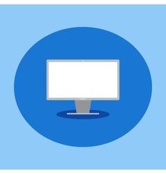 flat icon computer monitor vector image