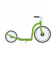 Green Kick Scooter vector image