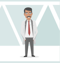 medical staff doctor in a white lab coat vector image