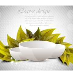 background with dish vector image vector image