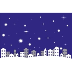City Night Winter Landscape vector image vector image