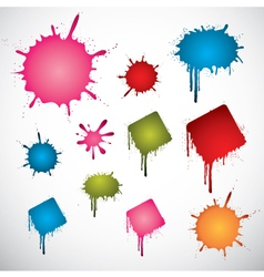 colorful ink spots vector image vector image