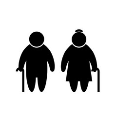 elder people icon in flat style old men simbol vector image
