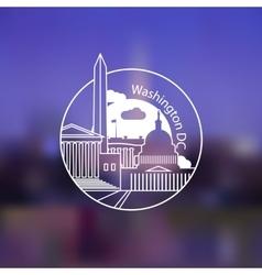 Minimalist round icon of Washington DC USA Flat vector image