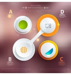 Modern business template style Web infographic vector image vector image