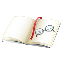 Notebook and glasses vector image
