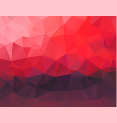 polygon background red and dark purple horizontal vector image vector image