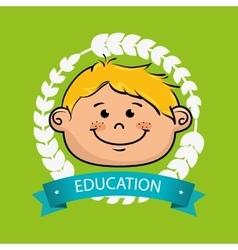 boy student graduation icon vector image