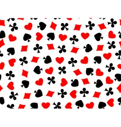 heart clubs spades diamond seamless vector image vector image