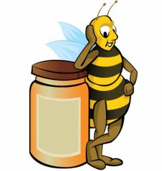 honey bee vector image vector image