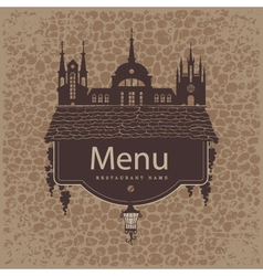 menu from the old town vector image vector image