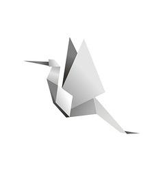 Origami stork vector image
