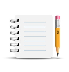 Paper spiral notebooks vector image