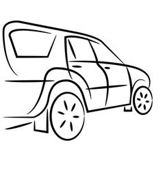 SUV design sketch vector image vector image