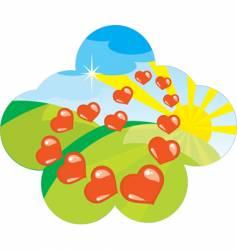 valentines label vector image