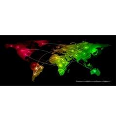 world map communication vector image