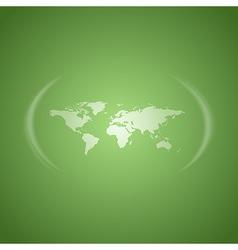 world map green vector image vector image