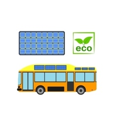 Alternative power concept eco car vector image