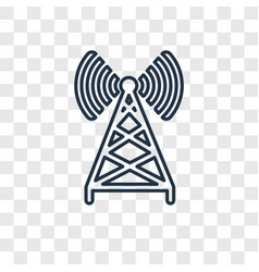 antenna concept linear icon isolated on vector image