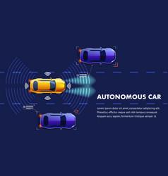 Autonomus car landing page vector