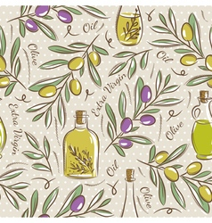 Background with olive vector image
