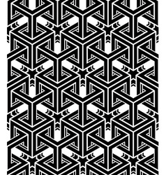 Black and white abstract geometric seamless 3d vector image