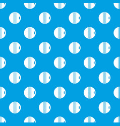 black and white cricket ball pattern seamless blue vector image