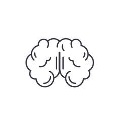 brain line icon concept brain linear vector image