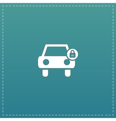 Car lock icon vector