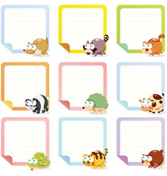 Childrens label design vector