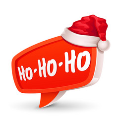 Christmas bubble for speech and santa hat vector
