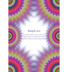Colorful page border fractal ornament design vector
