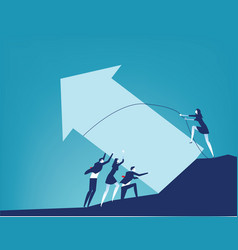 Cooperation and business teamwork concept vector