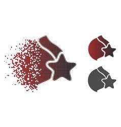 Dispersed pixel halftone female breast censorship vector