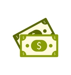 Dollar banknotes flat icon vector