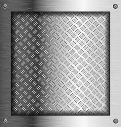Embossed steel metal frame vector image