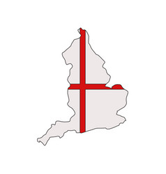 England map with flag vector