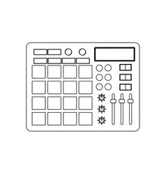 Equalizer music sound icon graphic vector