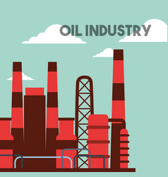 factory plant buildings oil industry vector image