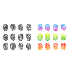 fingerprint identification symbol vector image