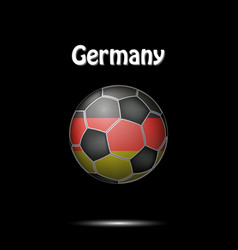 flag of germany in the form of a soccer ball vector image