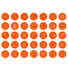 For a school site or booklet a set of thirty-five vector