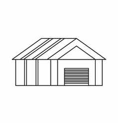 Garage with automatic gate icon outline style vector image