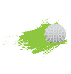golf ball icon with an effect vector image