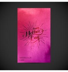 handwritten happy mothers day retro label vector image