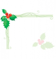 Holly design vector