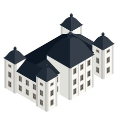 isometric white baroque castle vector image