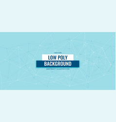 low poly digital technology banner design template vector image